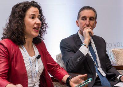 Anna Raptis and Juan Francisco Torres Landa at Mexico Assembly 2018