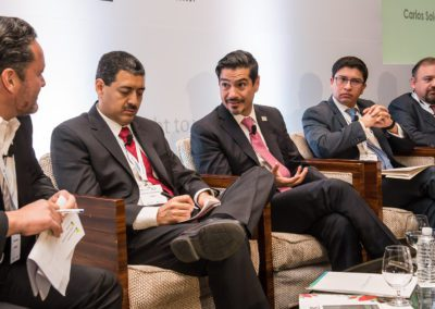 Oscar Roldan in discussion at Mexico Assembly 2018