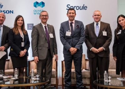 Speakers from the Storage and Logistics Infrastructure panel at Mexico Assembly 2018